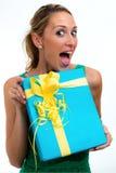 Zaskakujący z twój prezentem Zdjęcie Royalty Free