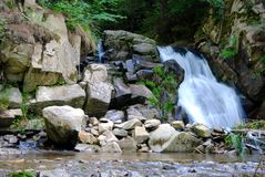 Zaskalnik-Wasserfall Stockfoto