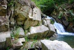 Zaskalnik-Wasserfall Stockfotografie