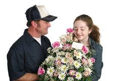 zaskoczony, że kwiaty Zdjęcie Royalty Free