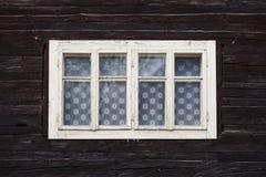 Zaskov village in Orva region. Traditional log cabin in Orava region, Slovakia stock images