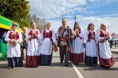 Zaslavl,白俄罗斯, 07 9月2014 :事件的庆祝 免版税库存照片