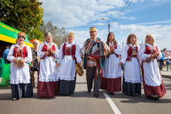 Zaslavl, Belarus, 07-September-2014: celebration of Events Royalty Free Stock Photo
