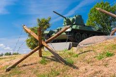 Zaslavl Vitryssland - 20 Augusti 2015: Militär-historiskt komplex Arkivfoton