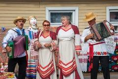 Zaslavl Vitryssland, 07-September-2014: beröm av händelsen Arkivfoton