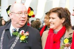 Zastępca Burmistrza Henk Kool przy CNY świętowaniem Obraz Stock