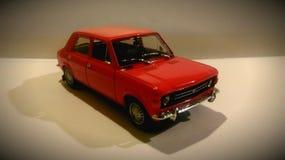 Zastava rouge de voiture en métal Photographie stock