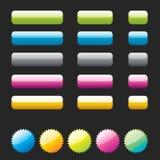 zastosowań elementów glansowana sieć Zdjęcie Stock