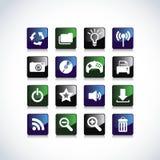 zastosowań ikon sieć Obrazy Royalty Free