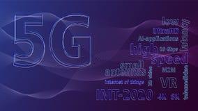 Zastosowania 5G technologia i royalty ilustracja