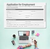 Zastosowanie Dla zatrudnienie formy Akcydensowego pojęcia zdjęcie royalty free