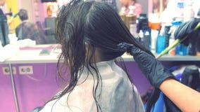 Zastosowanie keratyna włosy z muśnięciem Umacniać włosy z keratyną zdjęcie wideo