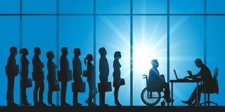 Zastosowanie niepełnosprawna osoba dla pracy royalty ilustracja