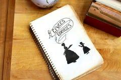 zasycha książka kucharska ciastek rocznika Zdjęcia Stock