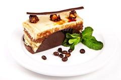 Tort z hazelnut, miodem i mennicą, Obrazy Stock