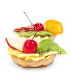 Zasycha z owoc i jagodami obraz stock