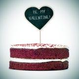 Zasycha z tekstem był mój valentine, vignetted Zdjęcia Stock