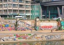 zaszczepka Danube kanał vienna Austria zdjęcia stock