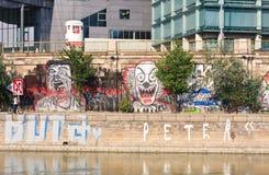 zaszczepka Danube kanał vienna Austria obrazy royalty free