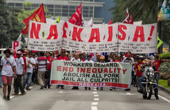 Zaszczepka i korupcja protestujemy w Manila, Filipiny zdjęcia royalty free