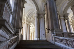 Zaszczyta Uroczysty schody, Caserta Zdjęcia Royalty Free