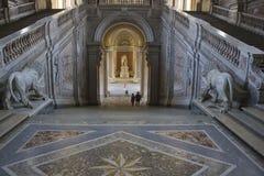 Zaszczyta Uroczysty schody, Caserta Zdjęcia Stock