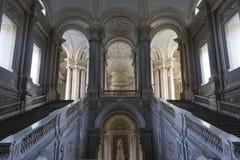 Zaszczyta Uroczysty schody, Caserta Fotografia Royalty Free