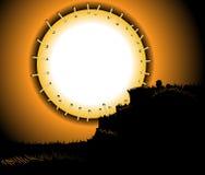 Zaszyta księżyc karta Obraz Royalty Free