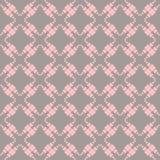 Zaszyty bezszwowy wzór z sercami. ilustracja wektor