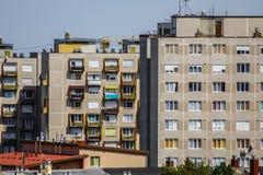 Zatłoczeni aglomeracji mieszkania zdjęcie royalty free