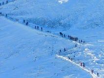 Zatłoczona ścieżka w górach Zdjęcie Royalty Free