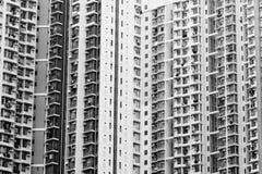 Zatłoczona wysokość - gęstość budynek mieszkalny Zdjęcia Royalty Free