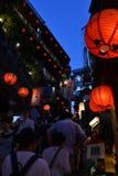 Zatłoczony Jiu Fen w Tajwan w popołudniu Fotografia Royalty Free