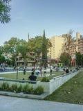 Zatłoczony kwadrat w Montevideo obrazy royalty free