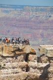 Zatłoczony widoku punkt przy Uroczystego jaru parkiem narodowym zdjęcie stock