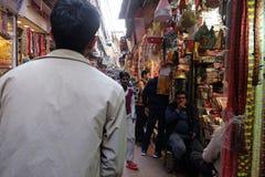 Zatłoczona ulica w Starym Delhi Zdjęcia Royalty Free