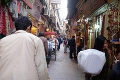 Zatłoczona ulica w Starym Delhi Fotografia Stock