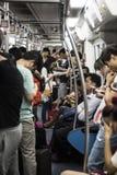 Zatłoczony carridge na Shenzhen metrze Fotografia Stock