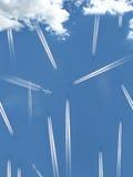 Zatłoczony niebo Obraz Royalty Free