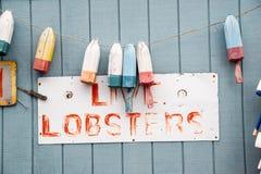 Zatarty homara znak Zdjęcia Royalty Free