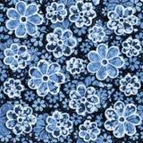Zatarty tekstylny Kwiecisty wzór Zdjęcia Royalty Free