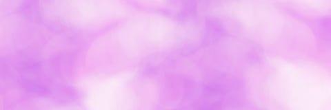 Zatartych bokeh menchii sztandaru purpurowy tło Zdjęcie Stock
