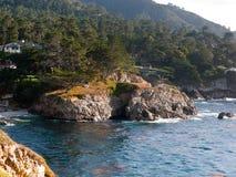 Zatoczka blisko ptasiej wyspy punktu Lobos parka Zdjęcie Stock