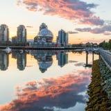 zatoczka fałszywy Vancouver Wczesny poranek brytyjski Canada Columbia Fotografia Stock