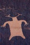 zatoczka petroglify indyjscy gazetowi rockowy Utah Zdjęcia Royalty Free