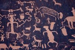zatoczka petroglify indyjscy gazetowi rockowy Utah Obraz Stock