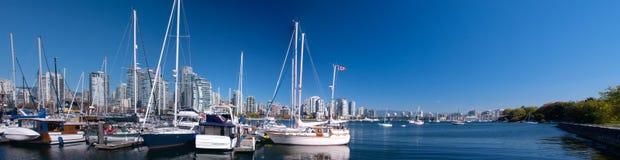 Zatoczki fałszywy nabrzeże, Vancouver, FAŁSZYWY Zdjęcia Royalty Free