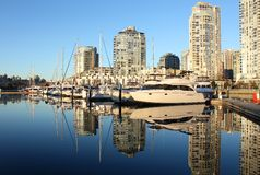 zatoczki fałszywy odbicia Vancouver yaletown Zdjęcie Stock