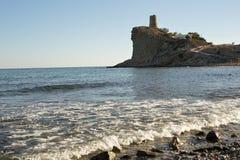 Zatoczki kałuża w Villajoyosa, Hiszpania fotografia stock