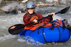 zatoczki mccarthy packraft paddle kobieta zdjęcie royalty free
